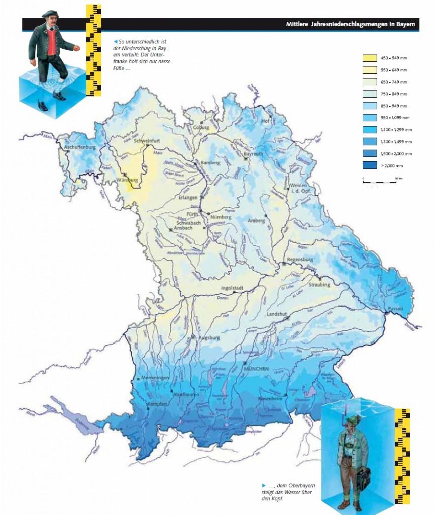 Unterfranken Karte.Unterfranken Wasser Karte Bayernkurier