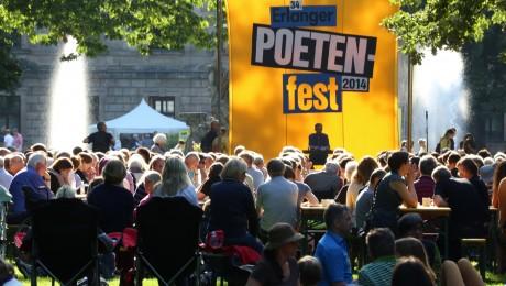 Eine der Hauptbühnen und schönsten Kulissen des Erlanger Poetenfests: der Erlanger Schlossgarten. (Foto: Erich Malter / Erlanger Poetenfest)
