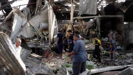 Ohne Tausende fremde Dschihadisten hätte der Islamische Staat schon verloren: 70 Tote bei einem IS-Anschlag auf einen belebten Markt in Sadr City im Nordosten Bagdads. Foto:dpa/Ahmed Ali