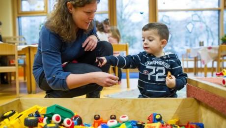 Kitabetreuung wird besser: Eine Studie hat die Qualität der Betreuung in allen Bundesländern untersucht. Foto: dpa/Uwe Anspach/Archiv