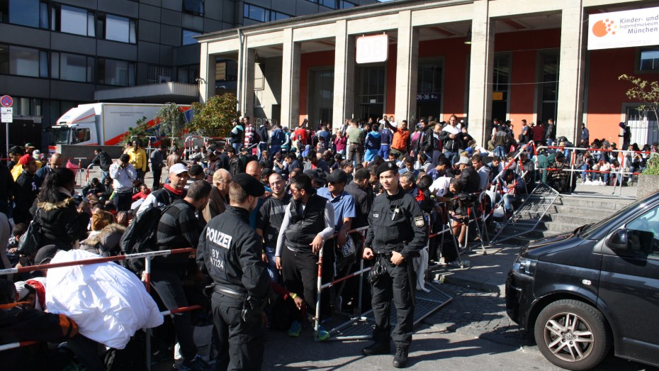 Münchner Hauptbahnhof Flüchtlinge