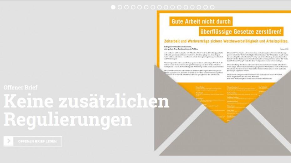 Arbeitgeber Offener Brief An Die Bundesregierung Bayernkurier