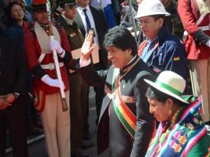 Evo Morales hat Bolivien zu einer Wachstumslokomotive in Südamerika gemacht. Nun will er grünes Licht für eine mögliche Präsidentschaft bis 2025. Foto: Georg Ismar