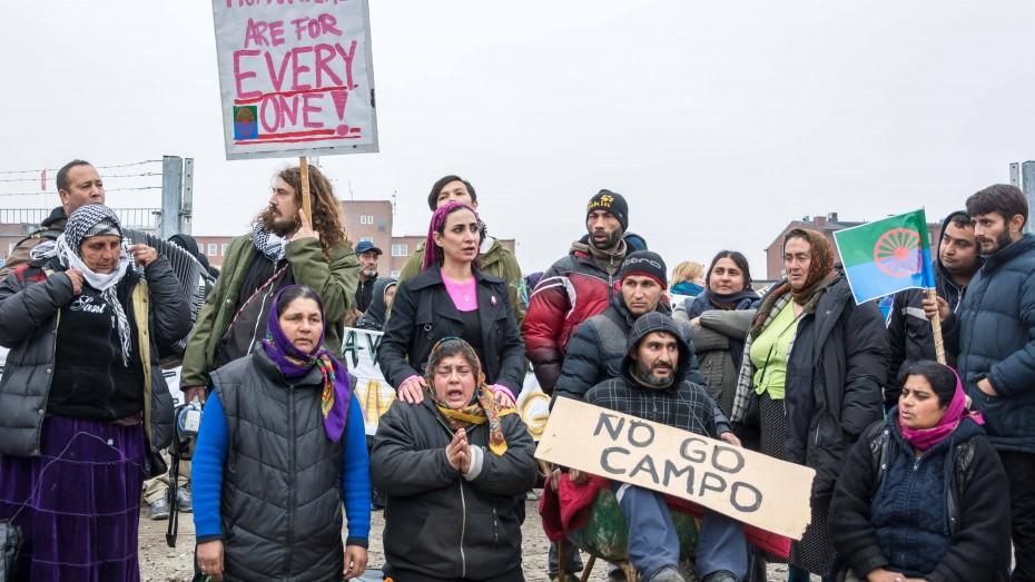 Flüchtlinge protestieren in Malmö gegen die Räumung ihrer Unterkunft. (Bild: imago/ZUMA Press)