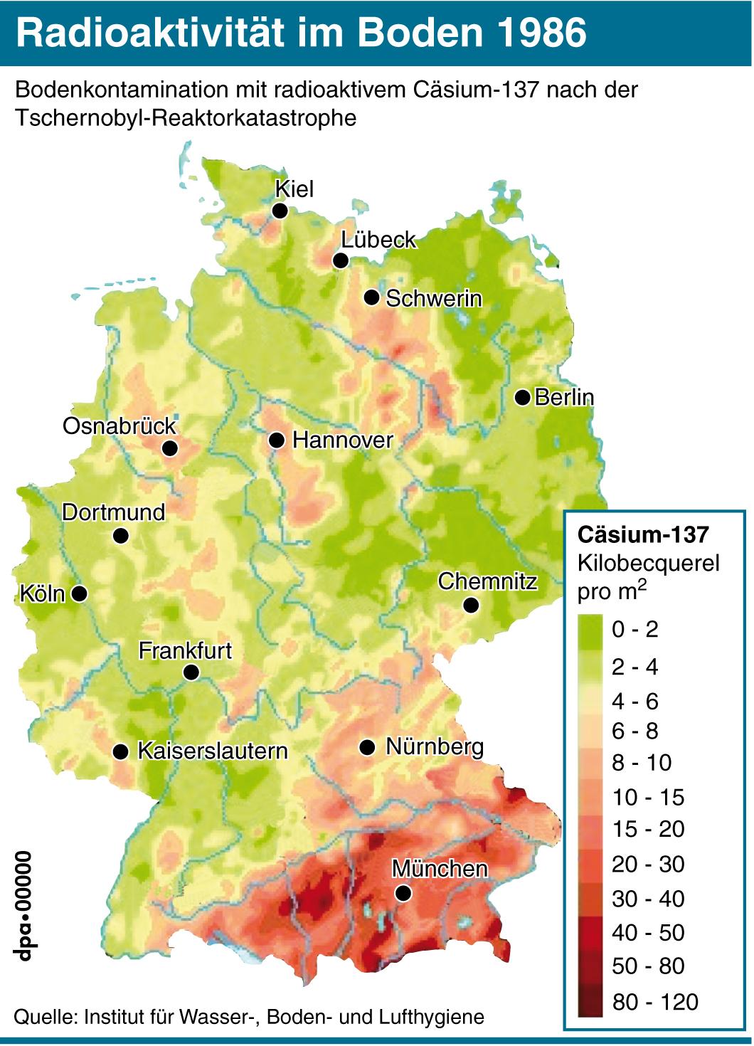 Tschernobyl Belastung Deutschland Karte