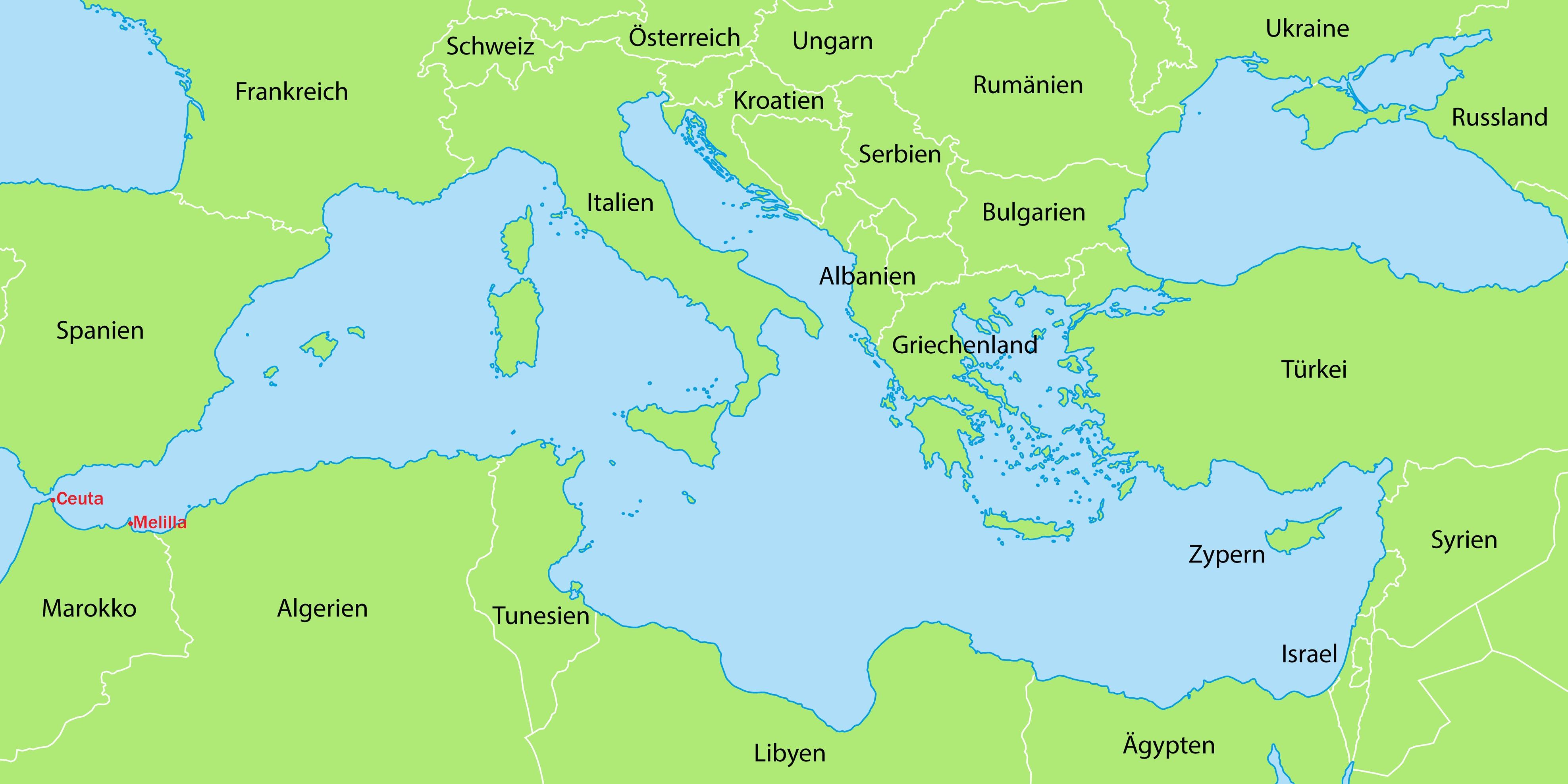 mittelmeerraum karte Mittelmeer – Karte in Grn – Bayernkurier