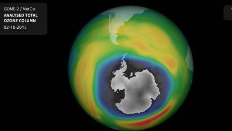 Das Ozonloch wird kleiner