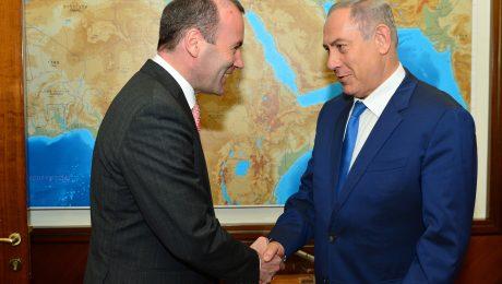 Manfred Weber traf Israels Ministerpräsident Benjamin Netanjahu.(Foto: Kobi Gideon / GPO)