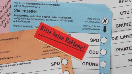 Am 18. September wählt Berlin das neue Abgeordnetenhaus. Derzeit liegen die vier stärksten Parteien nahe bei 20 Prozent. (Foto: imago/Gerhard Leber)