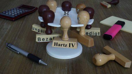 In Bayern wenig im Einsatz: Hartz IV-Stempel. (Bild: Imago/Steinach)