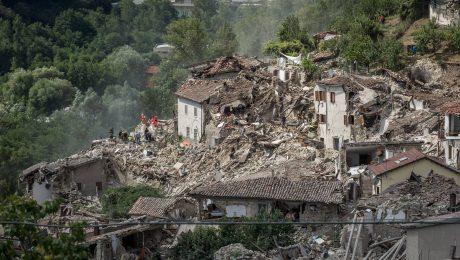 Pescara Del Tronto: Zone der totalen Zerstörung nach dem Erdbeben. (Foto: Imago/ZumaPress)
