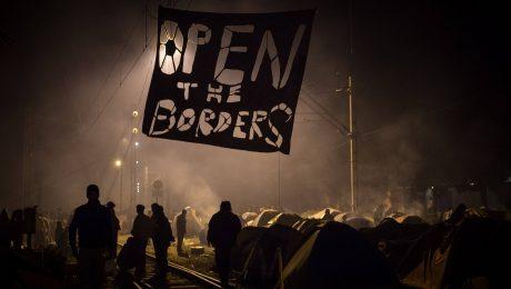 Alle wollen nach Europa, die meisten nach Deutschland: Flüchtlingscamp Idomeni an der griechisch-mazedonischen Grenze im März nach der Schließung der Balkanroute. (Bild: Imago/Christian Mang)