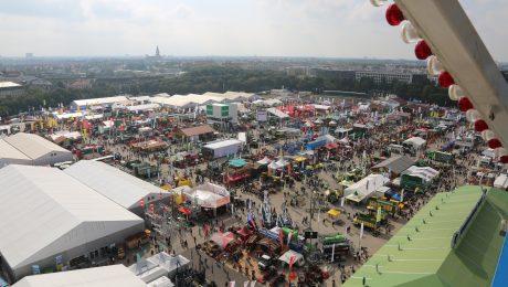 Das Zentrale Landwirtschaftsfest von oben. (Foto: Anja Schuchardt)
