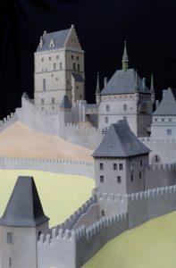 3D-Modell von Burg Karlstein, eine Anfertigung für die Landesausstellung durch  ArcTron 3D. (Bild: Haus der Bayerischen Geschichte/fkn)