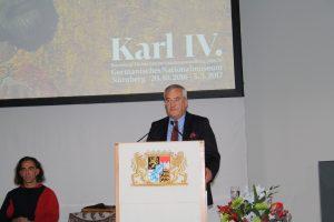 Der bayerische Kultusminister Ludwig Spaenle (CSU) bei der Eröffnung der Bayerisch-Tschechischen Landesausstellung zu Kaiser Karl IV. in Nürnberg. (Foto: Wolfram Göll)