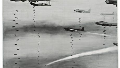 """Abbild einer kriegerischen Welt: Gerhard Richters """"Bomber"""" von 1963 aus der Ausstellung """"Postwar"""" (Foto: Städtische Galerie Wolfsburg)"""