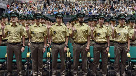 Frische Kräfte: Vereidigung von 1165 neuen Polizeibeamten im Juli in Nürnberg (Foto: Bereitschaftspolizei)