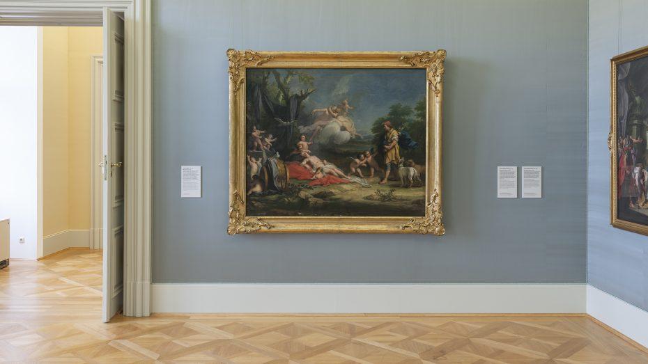 Edle Wandbespannung: Räume in der neu gestalteten Würzburger Staatsgalerie (Foto: H. Koyupinar/Bayerische Staatsgemäldesammlungen)