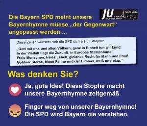 Die JU München startet ein Online-Umfrage zum Thema Hymne. (Graphik: JU München-Nord)