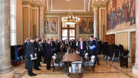 Bayerischer Landtag: Exekutiv-Treffen des Auswärtigen Ausschusses der International Democrat Union. (Bild: Bayerischer Landtag)