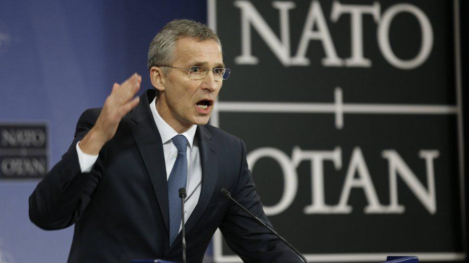 Angespannt: NATO-Generalsekretär Jens Stoltenberg vor dem Treffen der NATO-Verteidigungsminister in Brüssel. (Bild: Imago/Xinhua/Ye Pingfan)