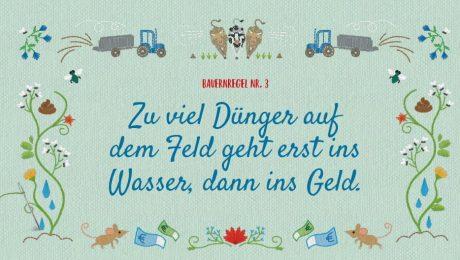 Die Bauernregel-Kampagne des Bundesumweltministeriums wird jetzt von Tierschützern fortgeführt. (Foto: Bundesumweltministerium)