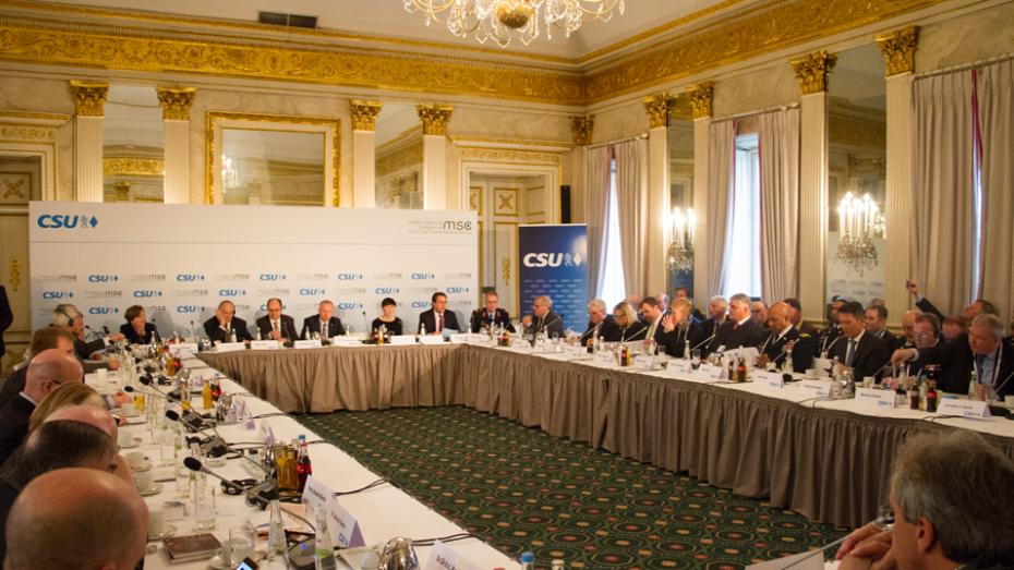 Auftaktveranstaltung zur Münchner Sicherheitskonferenz: 12. Transatlantisches Forum der CSU. (Bild: CSU/Dominik Doschek)