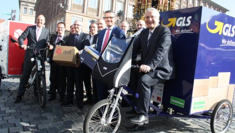 Pakete kommen jetzt per Fahrrad