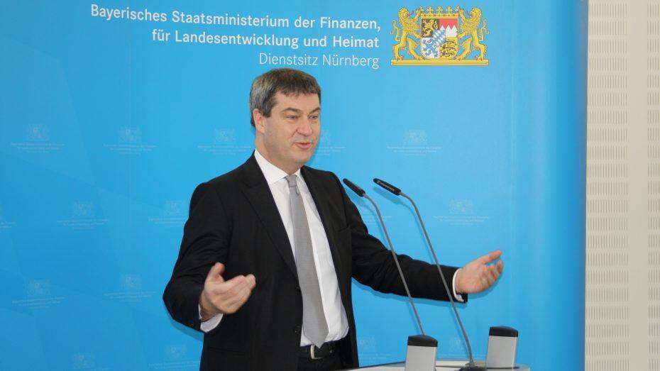Bayerns Finanz- und Heimatminister Markus Söder (SPD) beim IT-Sicherheits-Gipfel in Nürnberg. (Foto: Wolfram Göll)