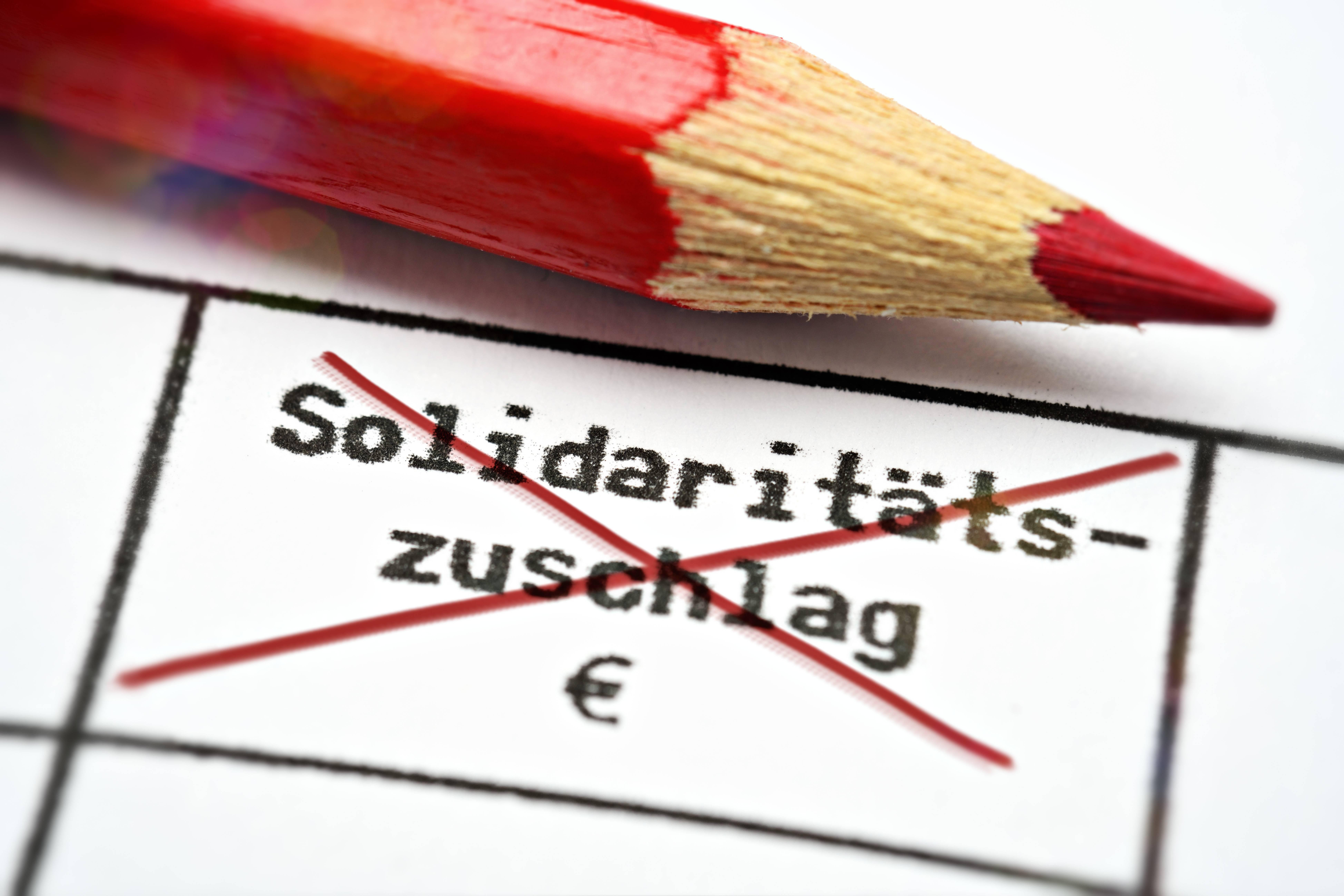 wegfall solidaritätszuschlag